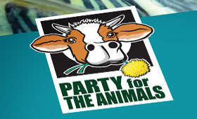 Party for the Animals event branding