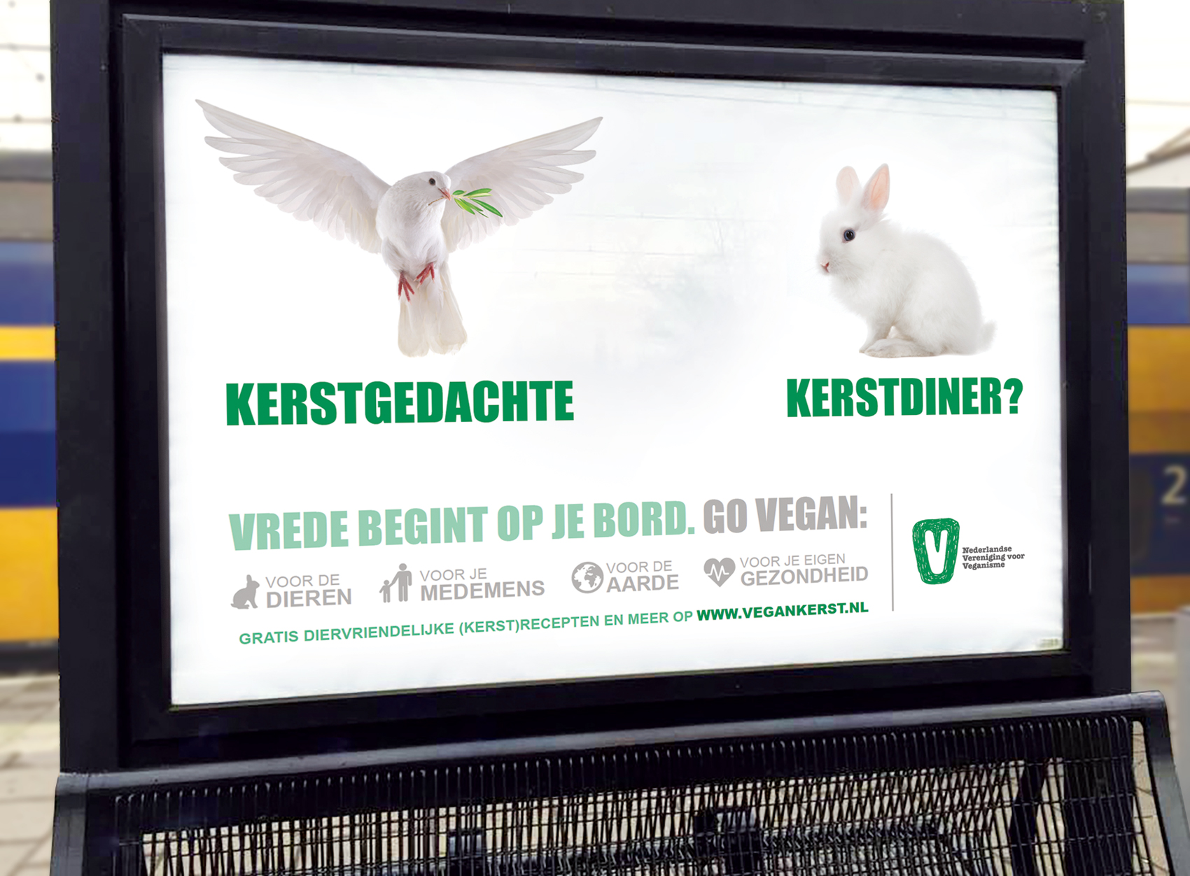 Vegan Christmas outdoor advertising