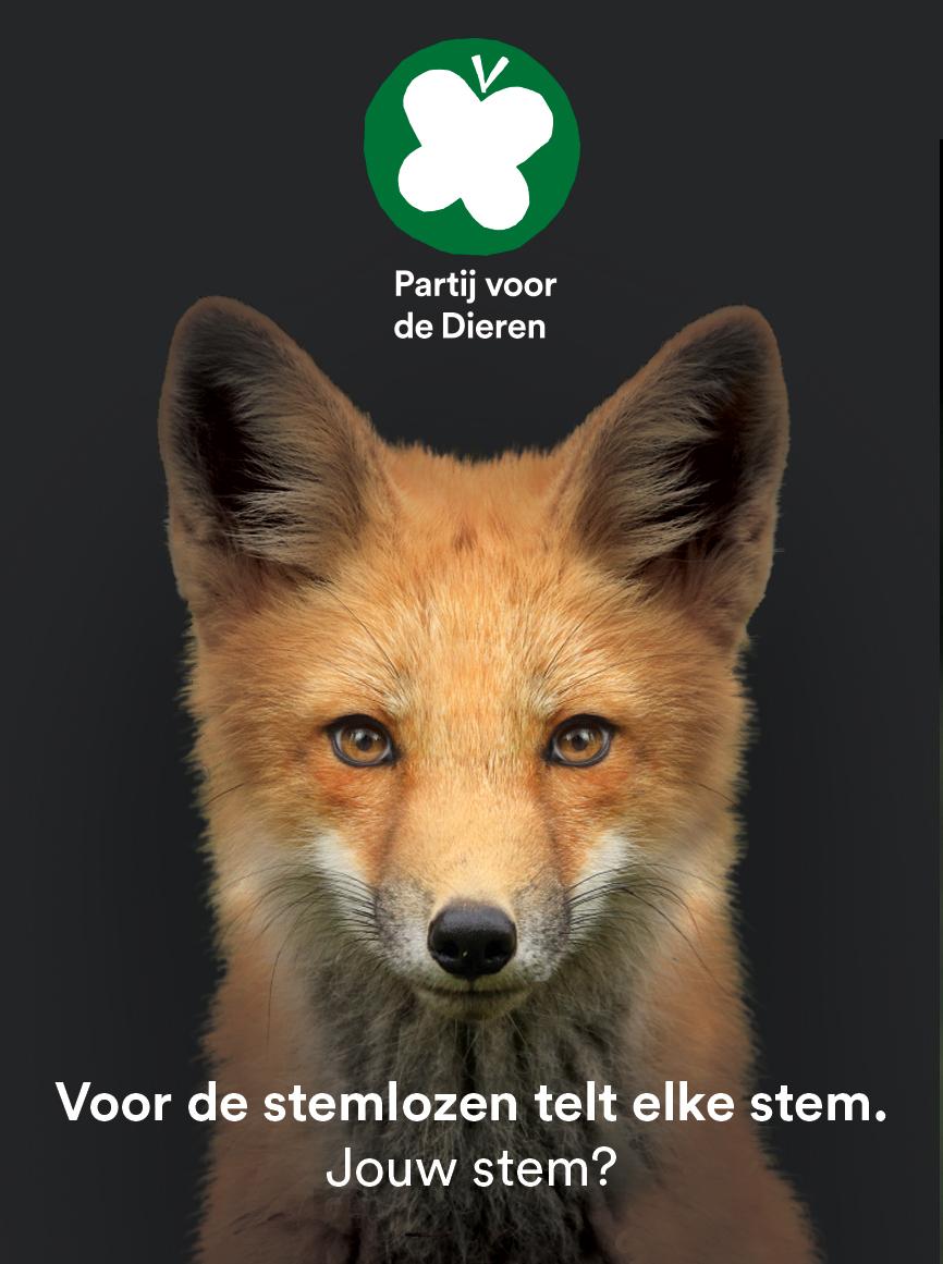 (Nederlands) Partij voor de Dieren TK2017 vos